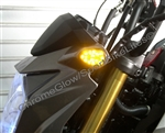 Kawasaki Z125 Pro Front LED Turn Signals in Smoked or Clear from SportBikeLites