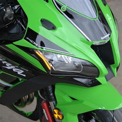 Front Blinker Turn Signals Lens Für Kawasaki ZX10R 04-05 Smoke AT4