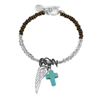 ANGEL WING CROSS BRACELET