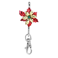 Poinsettia Key Finder Clip