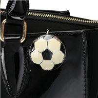 White Soccer Ball Key Finder Clip