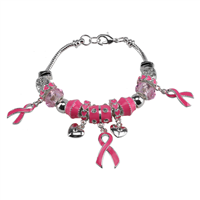 Pinktober Breast Cancer Charm Bracelet