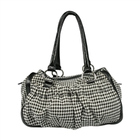 Plaid Houndstooth Handbag