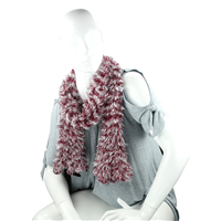Ruby Red & White Acrylic 3 Way Scarf