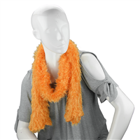 Unique Fashionable Lightweight Timeless Multi-Wear Solid Orange Magic Scarf