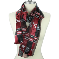 Alabama Crimson Tide Satin Scarf Scarves