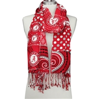 Multi Print Crimson Tide Scarf