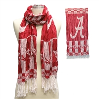University of Alabama Crimson Tide Crinkle Shawl