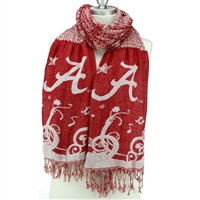 University of Alabama Crimson Tide Thin Crinkle Scarf