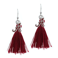 Tassel Charm Earrings University of Alabama