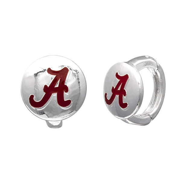 College Fashion University of Alabama Logo Tack Enza Stud Cuff Hoop Earrings