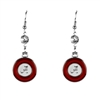 Silver Alabama Earrings Roll Tide