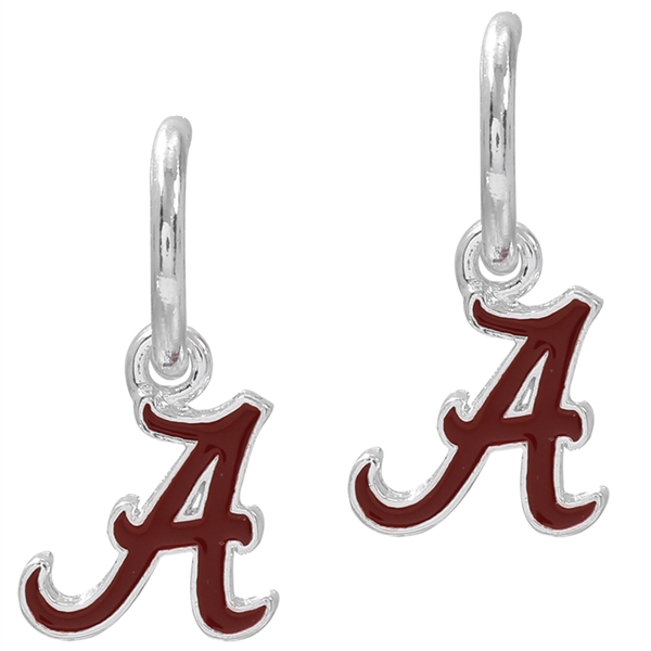 College Fashion University of Alabama Logo Charms Post Dangle Emma Earrings