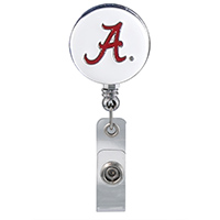 University of Alabama ID Lanyard in White