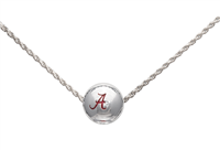 College Fashion University of Alabama Logo Ball Sun Necklace