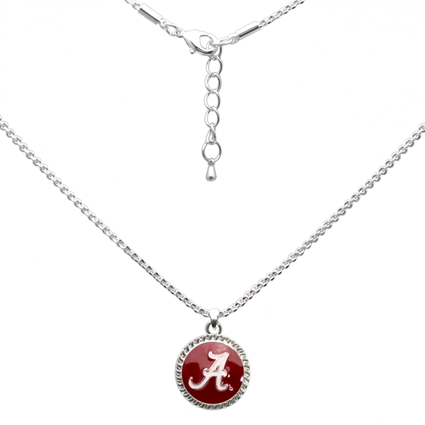 College Fashion University of Alabama Logo Charm Nessa Necklace