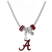 College Fashion Crystal University of Alabama Logo Charms Natalya Necklace