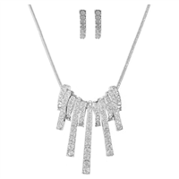 Dazzling & Sparkling Crystal Silver Necklace Set