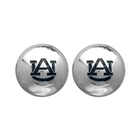 College Fashion Auburn University Logo Ball Star Stud Earrings
