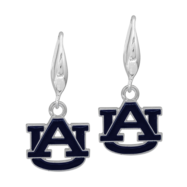 College Fashion Auburn University Logo Charm Stud Dangle Elma Earrings