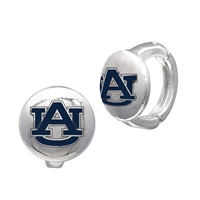 College Fashion Auburn University Logo Tack Enza Stud Cuff Hoop Earrings