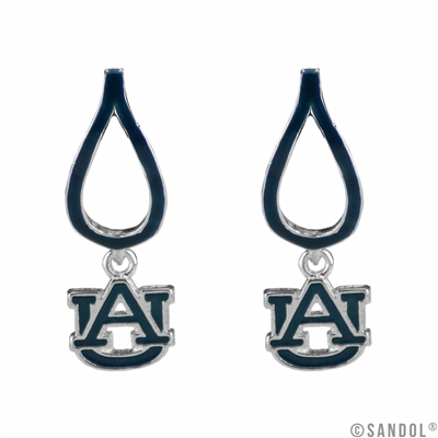 AU Auburn University Tigers Silver Jewelry Earrings