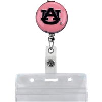 Pink Auburn Identification Holder Badge Clip