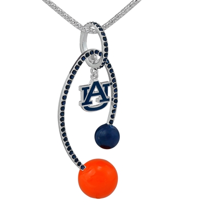 AUBURN 6056 | CRYSTAL LOGO NECKLACE