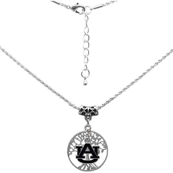 College Fashion Auburn University Logo Charm Neela Necklace