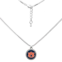 College Fashion Auburn University Logo Charm Nessa Necklace