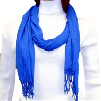 Royal Blue Viscose Scarf