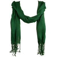 Green Viscose Scarf