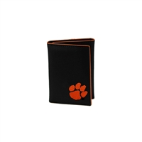 Clemson Leather Tri Fold Men's Wallet