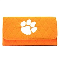 Quilted Wallet (Orange) | Clemson