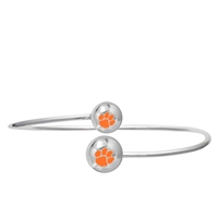 College Fashion Clemson University Logo Ball Kuiper Belt Cuff Bangle Bracelet