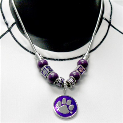 CLEMSON 321 | The Premier Beaded Bracelet (Purple)