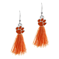 Tassel Charm Earrings Clemson University