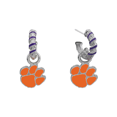 CLEMSON 4039 | CANDY CANE EARRINGS
