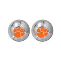 College Fashion Clemson University Logo Ball Star Stud Earrings