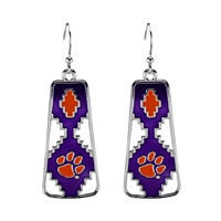 Clemson Aztec Print Earrings | Elaine
