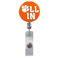 College Fashion Clemson University Retractable ID All In Lanyard Badge Reel