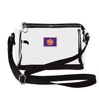 CLEMSON SMALL CLEAR HANDBAG