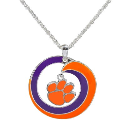 CLEMSON 6067 | SWIRL LOGO NECKLACE