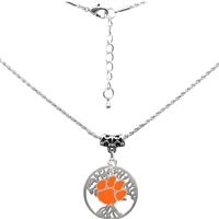 College Fashion Clemson University Logo Charm Neela Necklace