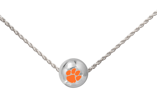 College Fashion Clemson University Logo Ball Sun Necklace