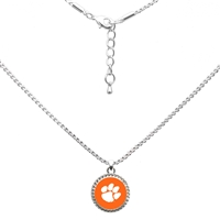 College Fashion Clemson University Logo Charm Nessa Necklace