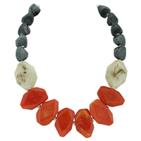 Stylish Fashionable Elegant Red Resin Stone Necklace