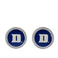 College Fashion Duke University Logo Charm Stud Eudi Earrings