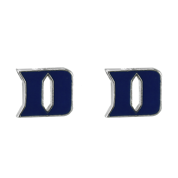 College Fashion Duke University Logo Charms Stud Elise Earrings