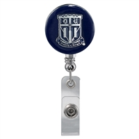 Navy Blue Duke University Shield Identification Holder Badge Clip